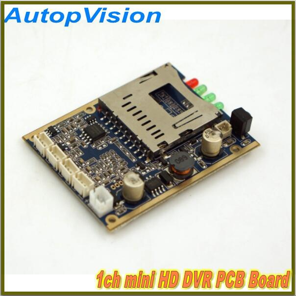 Real time 1CH Mini HD XBOX DVR PCB Board up to D1(704*576) 30fps support 32GB sd Card new time d1