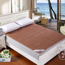 Pure color lattice quilted bedspreads mattress covers mattress pad Detachable and washable 180X200cm Queen size(China)