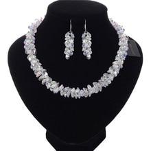 JEROLLI Bohemian Crystal Wedding necklace earring set Bridal jewelry for women Elegant Party Gift Fashion Costume