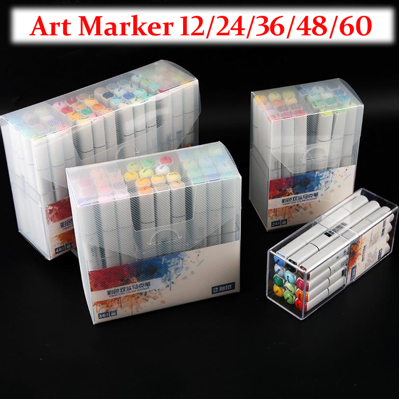STA High Quality color double-end Art Marker pens Alcohol Based Sketch Marker Pen For Drawing pen Manga Design Soupplies 04310 0 4mm 24 colors art marker pen fine draw point 88 fineliner pens painting pencils children pens no tox drawing marker sketch