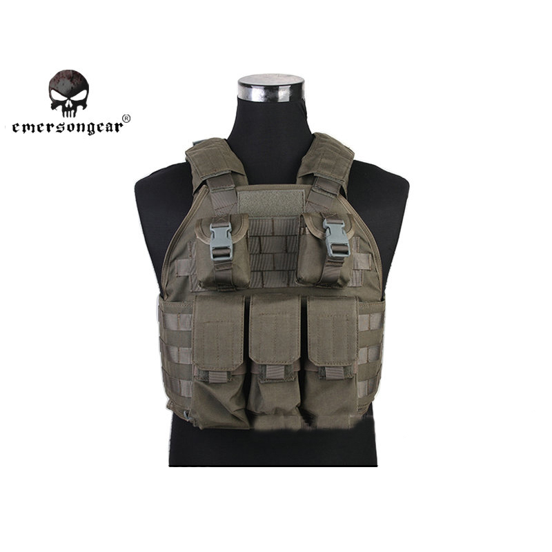 Emerson SPC Tactical Vest Airsoft Paintball Molle Military Army Assault Combat Gear Hunting Vest Chest Protective EM7320 SG ^