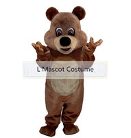 Hot selling 2016 Volwassen stripfiguur teddybeer Mascotte Kostuum Halloween party kostuums