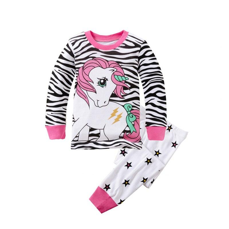 2 T-8 T Ragazze Unicorn Pigiami Del Bambino Degli Insiemi Little Pony Indumenti Da Notte Per Bambini Abbigliamento Per Bambini Abbigliamento Ragazzi Pigiama Pigiama Per 1-8 Anni Design Accattivanti;