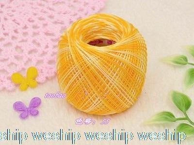 Японский сегмент окрашенная OLYMPUS кружевная линия tat ткачество нитки для ручного вязания нитки для вязания крючком Золотая этикетка № 40 1 заказ = 2 сумки - Цвет: 55