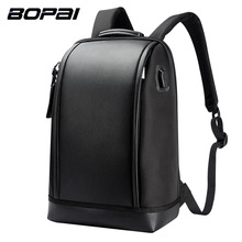 BOPAI Marca USB Externo Carga Mochila Ombros Saco De Computador Mochila Anti-roubo 17 polegada Mochila Laptop À Prova D' Água para Os Homens