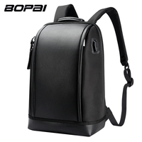 BOPAI Brand USB External Charge Backpack Computer Bag Shoulders Anti Theft Backpack 15 Inch Waterproof Laptop
