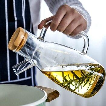 Transparent Borosilicate Heat-Resistant Glass Oil Pots
