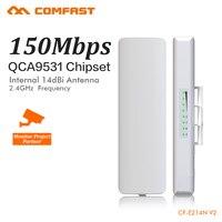 CAOMFAST 150Mbps Wi Fi Access Point Outdoor CPE 2 4G Wifi Bridge 1 3KM Range Extender