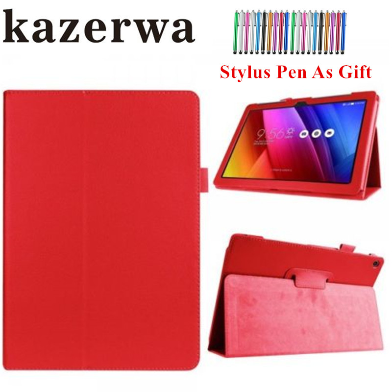 Z300 Z301 PU Leather Case Smart Cover for Asus ZenPad 10 / Z300 Z300C Z300CL Z300CG Z300M Z301 Z301ML 10.1 Tablet funda Case+Pen