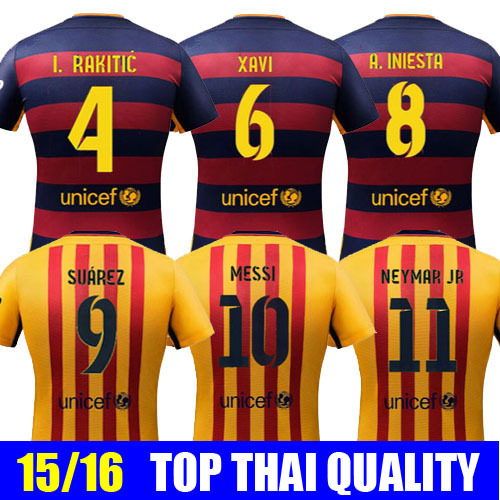 new concept 8b433 f984b 2016 Barcelona Jersey Messi Neymar Jr 15 16 Barcelona Jersey ...