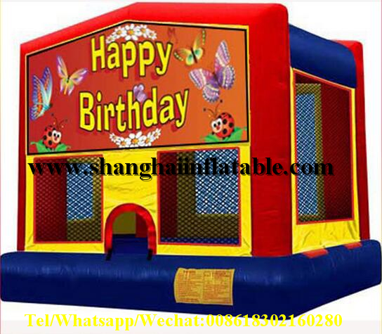 New Arrival inflatable fun commercial bounce houses birthday gift playground ...