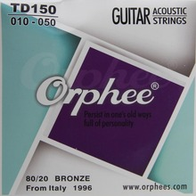 Orphee TD150  guitar accessories acoustic guitar string  Extra light guitar Strings 80/20 bronze String copper strings 6pcs/set
