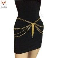 BC-525 cor de ouro cadeia de barriga, cadeia de cintura, delicada cadeia de barriga, colar corpo