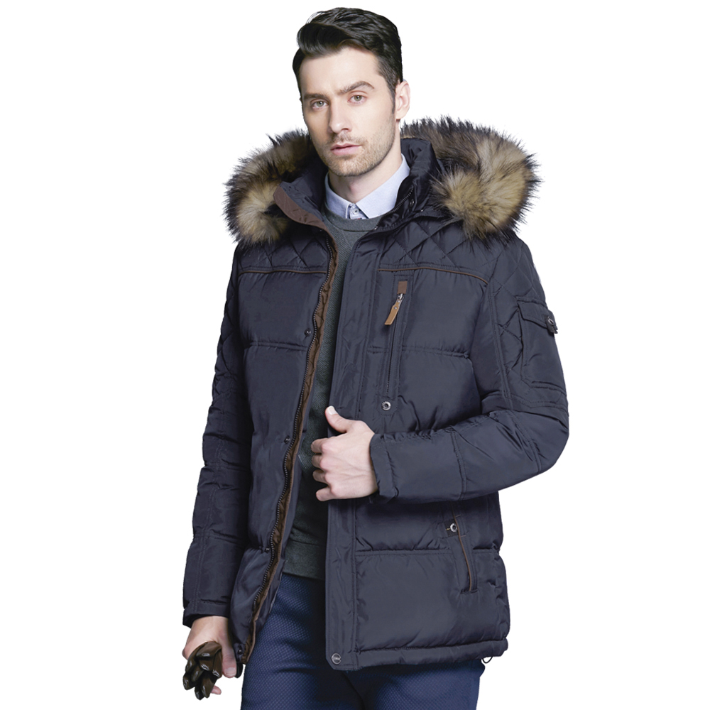 ICEbear 2017 High-quality Men Winter Thick Warm Coat of the Parka with Fur Collar Fashion Jackets Classic Parkas 15MD927D
