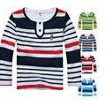 Alta Qualidade 2-14 Anos As Crianças Crianças Primavera Outono de Algodão de Manga Comprida T-shirt Roupas para Meninos O-neck Camisetas