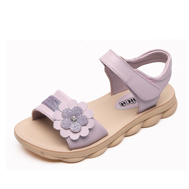 a02cb73af341 ULKNN summer for girls sandals 2019 summer new versionPrincess shoes casual  children open toe beach shoes tide size 21-37