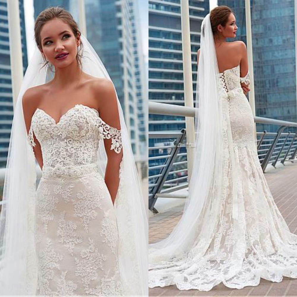 Sweetheart Wedding Dress With Cap Sleeves: Fabulous Cap Sleeve Lace Wedding Dress With Sweetheart