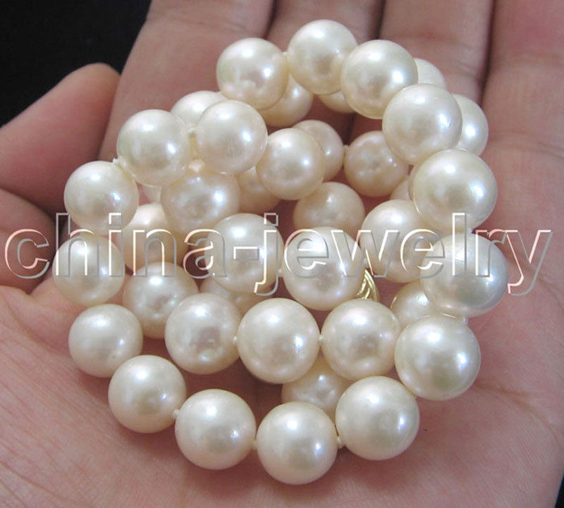 Hot sale new Style >>>>AAAA 17 9-10mm natural white round freshwater pearl necklace hot sale new style aaaa 7mm genuine akoya pink sea water pearl necklace 14kgp j5534