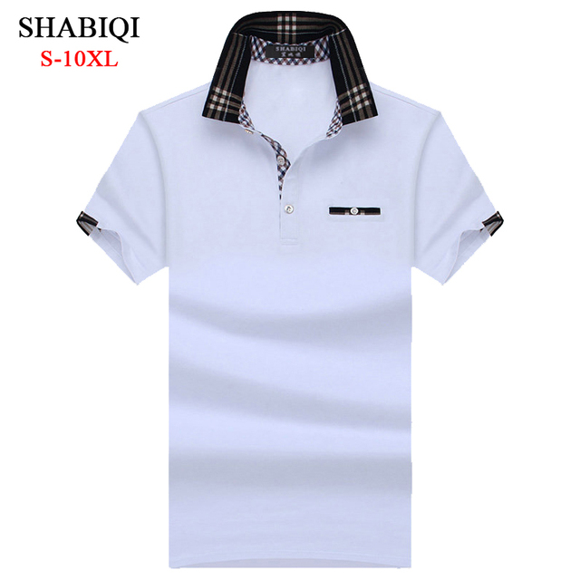 8b78f3747b SHABIQI Brand Clothing 2018 New Men Polo Shirt Men Business   Casual solid  male polo shirt Short Sleeve Pocket Models polo shirt
