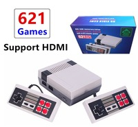 Game Console HDMI/AV Mini 8 Bit Retro Video Game Console Built In 621 Classic Games Handheld HD 4K TV Family Video Game Player