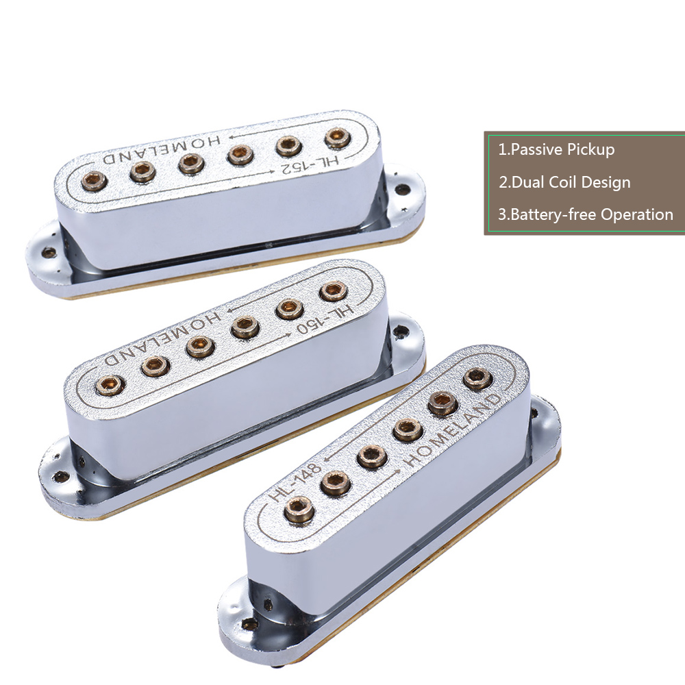 High Quality 3pcs 48 50 52mm Passive Magnetic Dual Coil Sound Hole Pickup for Fender ST