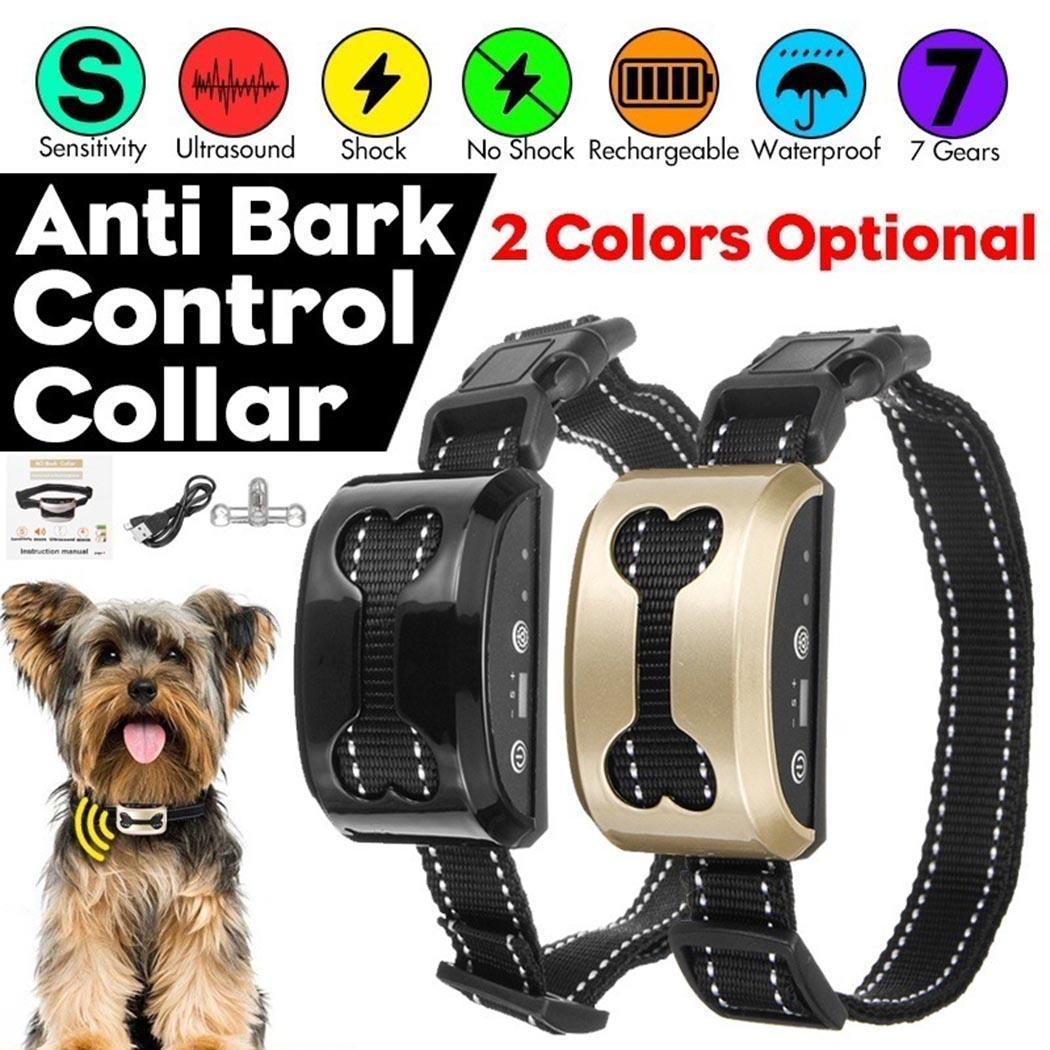 Pet-Products Dog-Barking-Stopper Ultrasonic Sky-Blue Waterproof Black Intelligent Silver