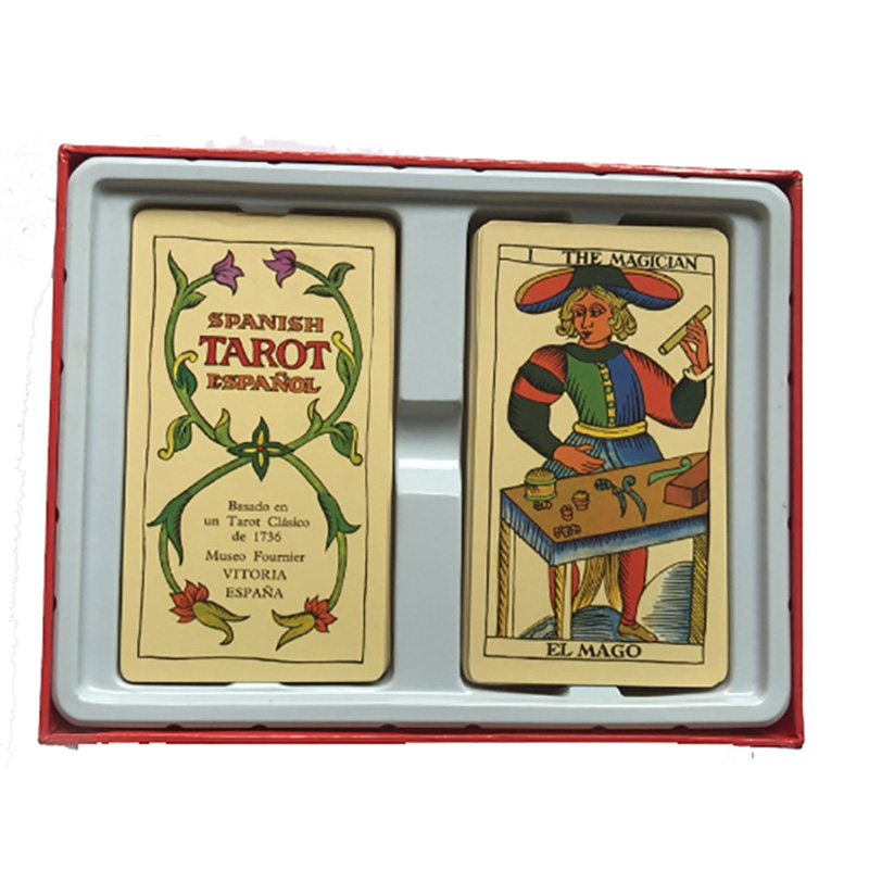 Spanish Tarot Board Game High Quality Paper Cards English/French/Spanish Instructions for Astrologer
