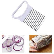 1 шт. режущий лук из нержавеющей стали, игла с пластиковой ручкой, тендерайзеры для мяса, зубная нить, булавки, фрукты, овощи, кухонный инструмент
