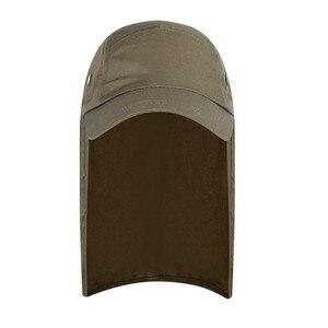 Image 3 - Outdoor UPF 50 Unisex Quick Dry Vissen Hoed Zonneklep Cap Hoed Bescherming Zon met Oor Nek Flap Cover voor wandelen nieuwe