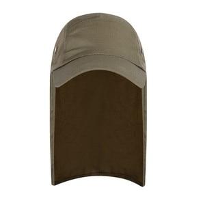 Image 3 - 屋外 UPF 50 ユニセックス速乾性釣り帽子サンバイザーキャップ帽子太陽保護耳ネックフラップカバーハイキング新