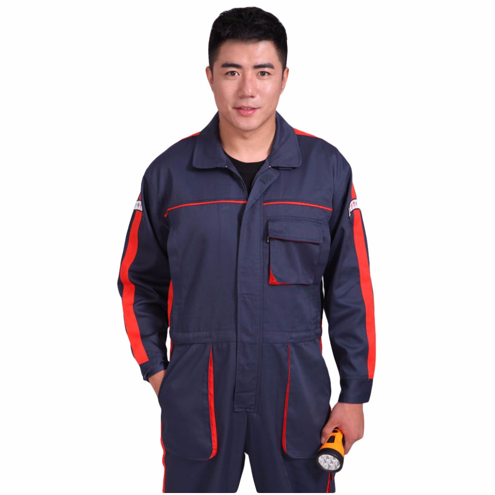 Men Work Clothing Multi-pockets Long Sleeve Coveralls Dust-proof Anti-pollution Clothing Painting Auto Repair Workwear Overalls mens work clothing reflective coveralls windproof road safety maritime clothing protective clothes uniform workwear plus size