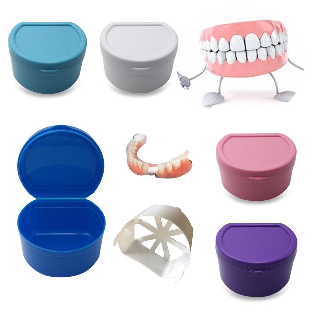 1 Pc Prothese Bad Box Fall Dental Falsche Zähne Lagerung Box Mit Hängen Net Container Hx0425 Exquisite (In) Verarbeitung