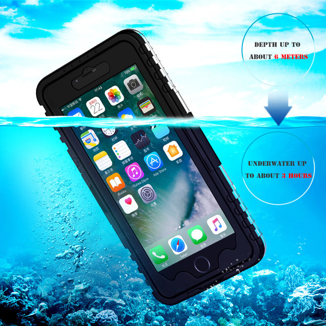 huge discount 225f8 57ee1 US $6.99 40% OFF|KISSCASE Fashion Waterproof Case For Samsung Galaxy S8 S7  S6 Edge Plus Bag For iPhone X 8 7 6S 6 For Samsung S3 S4 S5 Note 4 5 -in ...