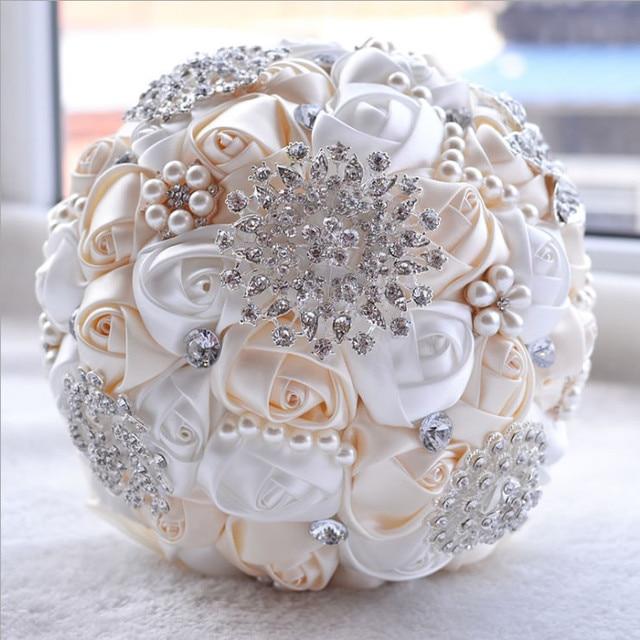 Bouquet Sposa Prezzi.Miglior Prezzo Bianco Avorio Spilla Bouquet Da Sposa Bouquet De