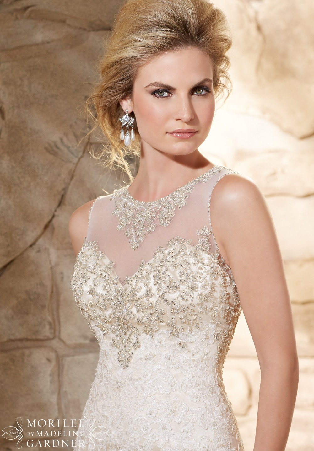 9aeb04d5e971 Heavy Beaded Custom Made Elegant Lace Wedding Dress See Through Mermaid  Bride Dresses Robe De Marriage Gown 2015-in Wedding Dresses from Weddings &  Events ...