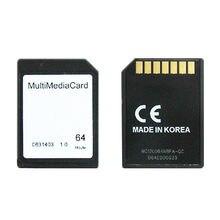 10 pcs um monte univoltage 7Pin 64 MB MMC Multimedia Card para áudio subwoofer/carro