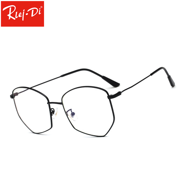 TT377 New Designer Women Glasses Optical Frames Metal Round Glasses Frame Clear Lens Eyewear Black Gold Eye Glasses