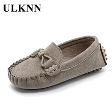 цена на ULKNN Children Flats Shoes For Boys Casual Shoes Spring Autumn Toddler Baby Kid Shoe Loafers Velvet Classic Student School Shoe