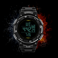 WAKNOER Luxury Waterproof Sport   Watch   12 Style Fashion Black Silicone   Digital     Watch   Men   Watch   LED Military   Watches   Saat Clock