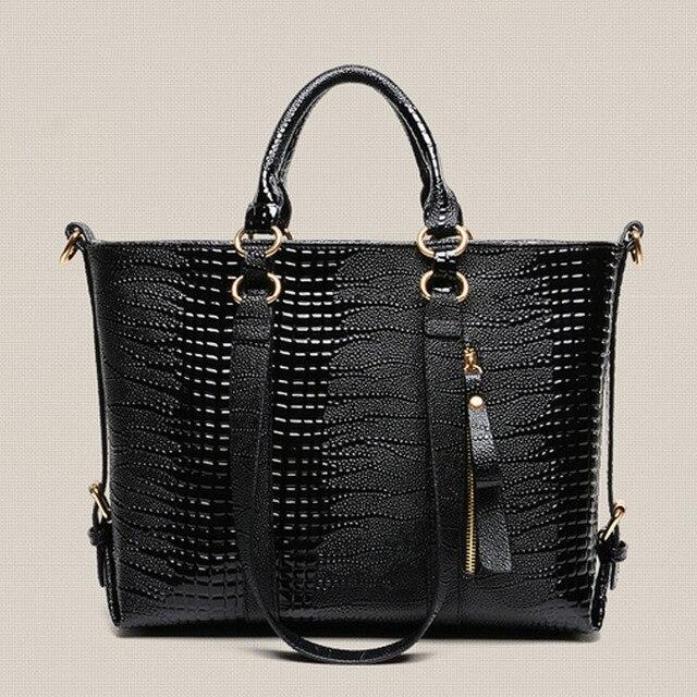 2016 new design women leather tote bag top quality euro ladies handbag famous brand shoulder bag women femininas XA798B