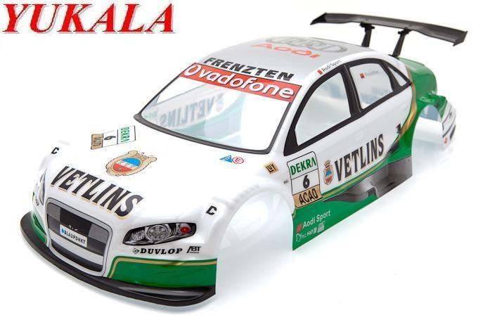 YUKALA 1/10 RC car accessoris 1:10 R/C car body shell 190mm No013 green 2pcs/lot free shipping