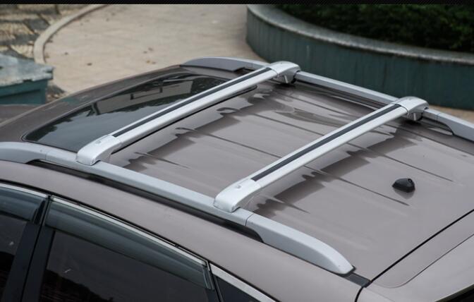 Barres transversales universelles de barres de toit de voiture barres transversales 75 kg 150LBS pour la voiture avec des Rails latéraux fonctionnent avec des supports de Ski de cargaison de Kayak 2 PC