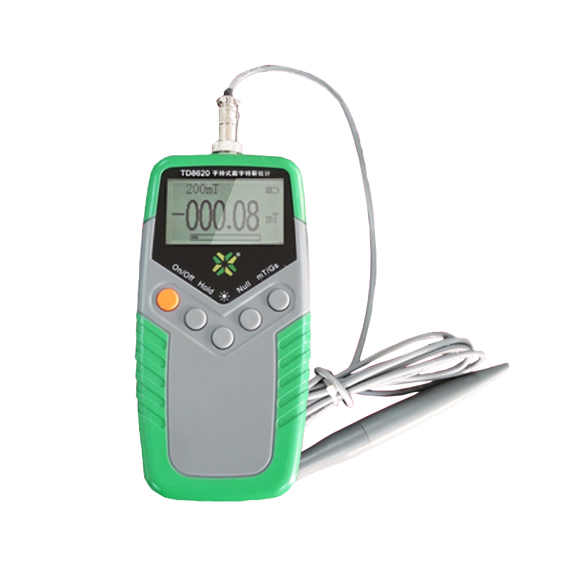 TD8620 Magnetic Flux Magnetic Field meter Digital Magnetic Tester with mT Gs screen Class