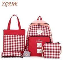 Woman Canvas Backpack Bag Fashion Korean Back Pack High School Bags For Teenagers Girls College Students Backpacks Bagpack цена в Москве и Питере