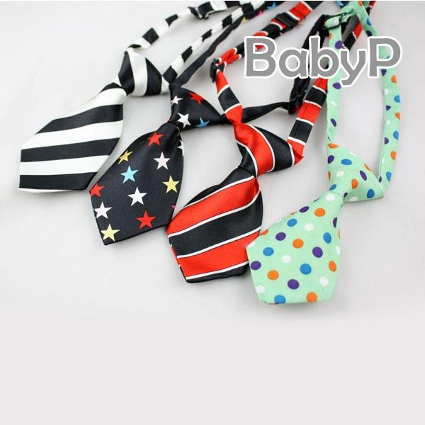 Polyester Baby Tie Adjustable Girls Children Gravata Slim New Fashion Mini Boy Neckties Suit Boys Accessories Polyester Baby Tie