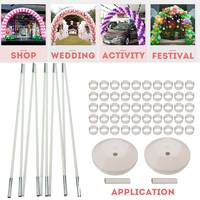 Durable Balloon Column Stand Kits Arch Stand with 10 Brackets 2 Bases 50 Buckles for Wedding Birthday Festivals Party Decoration