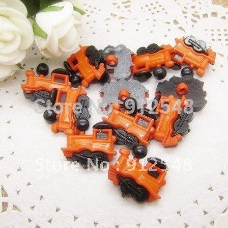 100pcs Orange Train plastic buttons flower buttons for children garment ,hc002