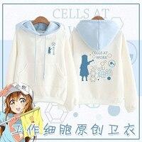 WXCTEAM Anime Cells At Work Platelet Cosplay Fleece Hoodies Winter Unisex Pullover Hoodies Women Hoody Sweatshirts Streetwear