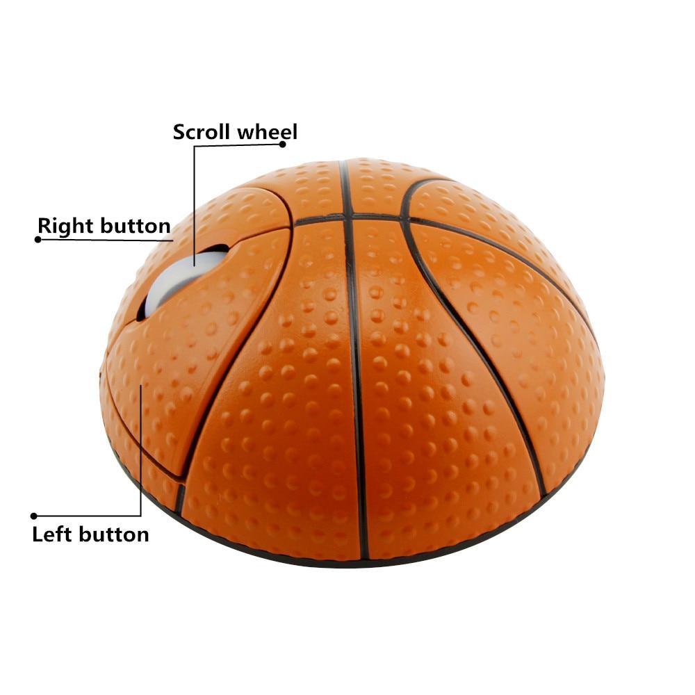 Беспроводная эргономичная игровая мышь в форме баскетбола, 2,4 ГГц, 1200 DPI, USB-3