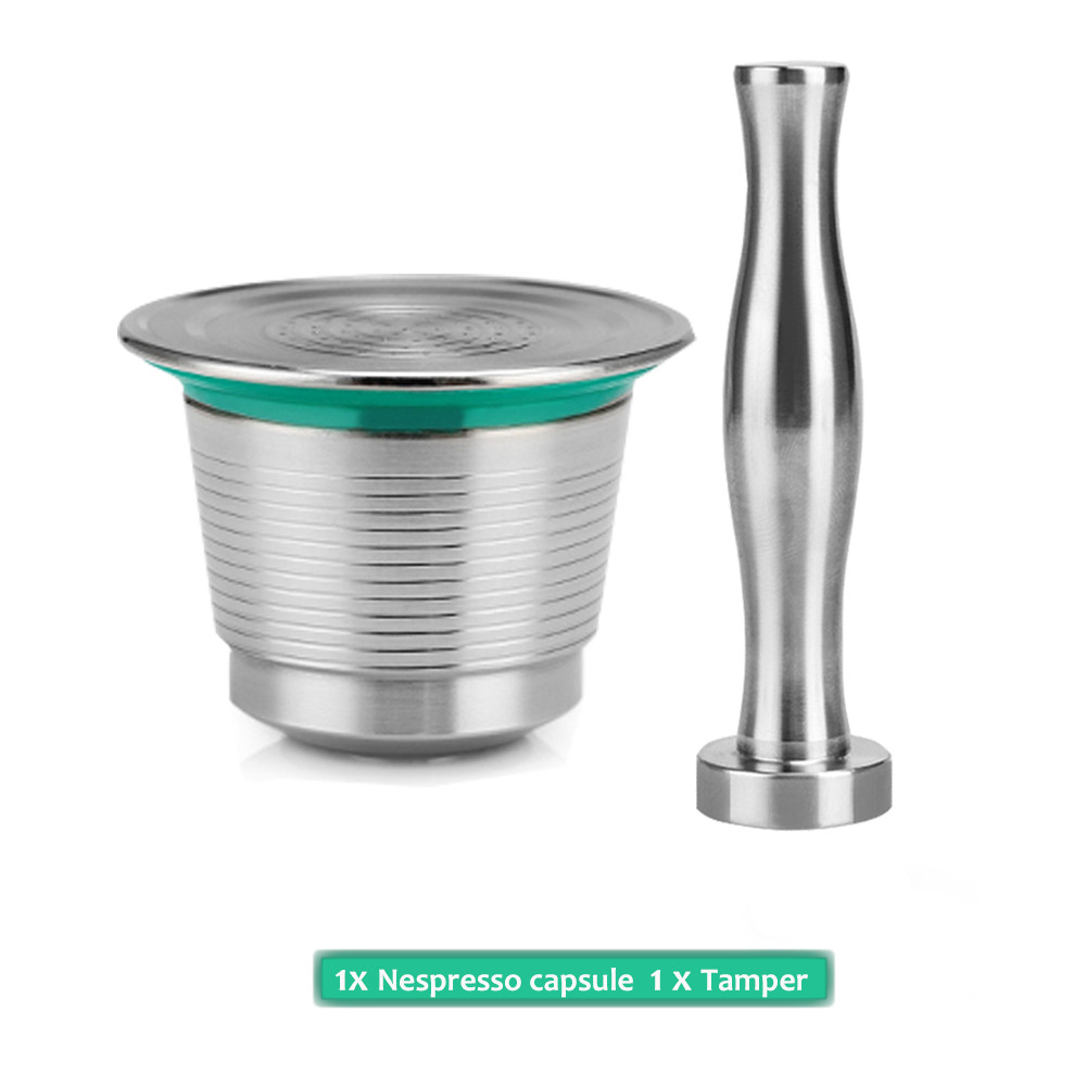 Nespresso Machine Coffee Filter Stainless Steel Metal Reusable Capsule Pos Tamper With Press Refillable Coffee Capsules Filters